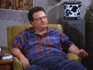 ... Newman lives in the same building as Jerry Seinfeld , at 129 West 81st
