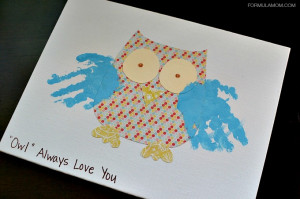 Grandparents Day Handprint Gift Owl Craft #grandparentsday #crafts