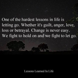 So hard to let go!