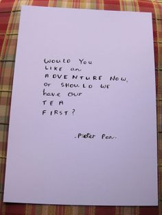 Peter Pan author quote - hand written, hand drawn typography, Lewis ...