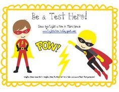 ... super hero characters! Students will create a super hero name, super