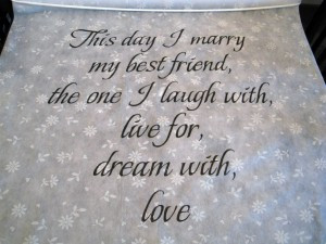 More examples of wedding quotes in use below…