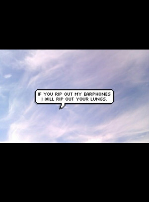 bubble, chat, funny, headphones, lungs, message, music, quote, quotes ...