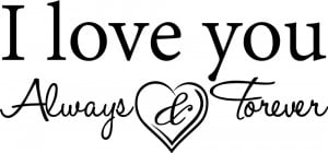 Love-you-Always-and-Forever-vinyl-wall-decal-quote-sticker-decor ...