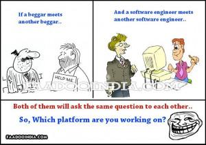 another beggar. A software engineer meets another software engineer ...