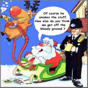 funny santa claus comic picture