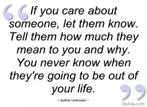 if you care about someone author unknown