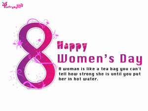 ... Day Wishs Quote Card Image and Picture Women's Day Greetings March 8