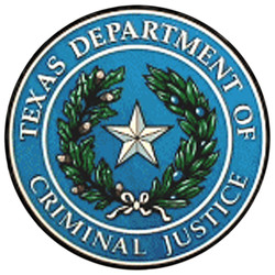Logo ofthe Texas Department of Criminal Justice.