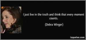 More Debra Winger Quotes