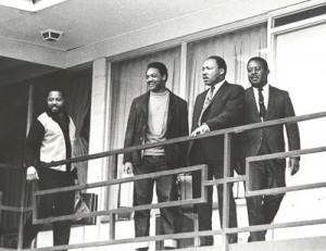 April 3 1968, Memphis, Tennessee: Martin Luther King, Jr. stands