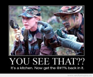 Funny Picture - Woman in army