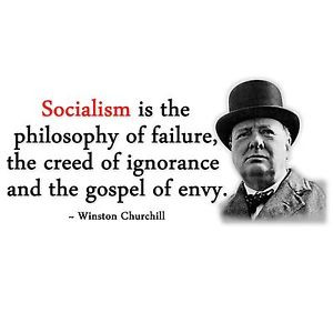 ... Obama-QUOTE-CHURCHILL-SOCIALISM-FAILURE-Conservative-Political-T-Shirt