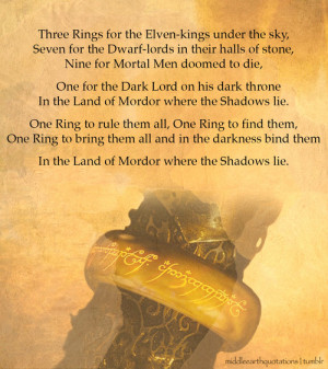 Epigraph to The Lord of the Rings