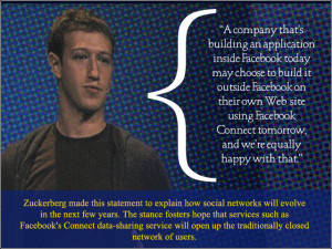 company that's building an application inside Facebook today may ...