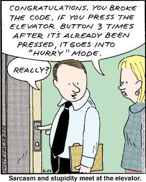 Congratulations . You Broke The Code, If You Press The Elevator Button ...