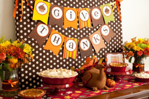 ... Quotes Plus Vases On Side This Pict Thanksgiving Kid's Party Table