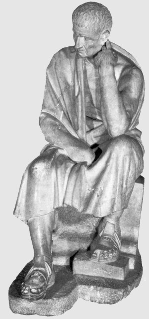 Aristotle is one of the major Greek thinkers, with Plato .