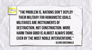 Quote from Glenn Greenwald featured on http://www.youtube.com/user ...