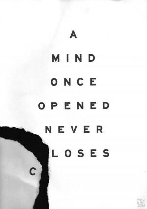An open mind...