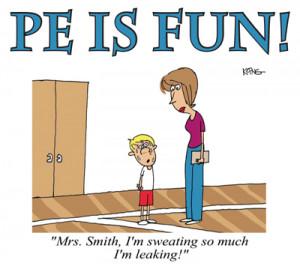 PE Is Fun with Cartoon Beneath