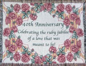 40th Anniversary blanket