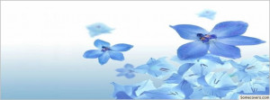 Blue Flowers Quote Pretty Facebook Timeline Cover