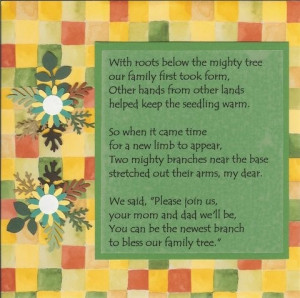 Adoption Poem Scrapbook Page