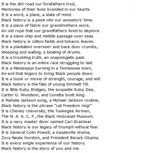poems About Black History