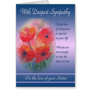 loss_of_sister_with_deepest_sympathy_card ...