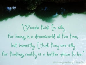 People think i m silly quote