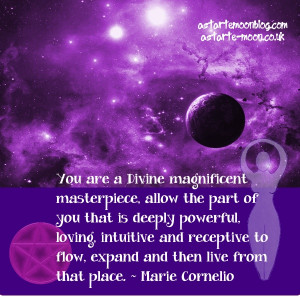 You are a Divine magnificent masterpiece, allow the part of you that ...