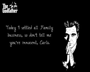 ... stuff about my YouTube channel, Mikey. Image from the Godfather movie