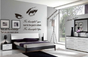 quote wall sticker - removable wall decal - Hepburn's sexy eyes wall ...