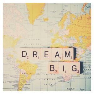 dream big map color photo print - whimsical fine art still life ...