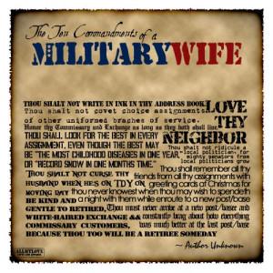 Military Wife Ten Mandments