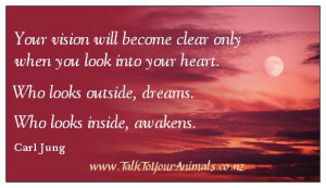 Carl Jung - spiritual growth quote $1.50