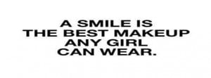 Beautiful Girl Quote Smile Text Facebook Covers