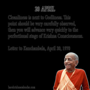 Srila Prabhupada Quotes For Month April 20