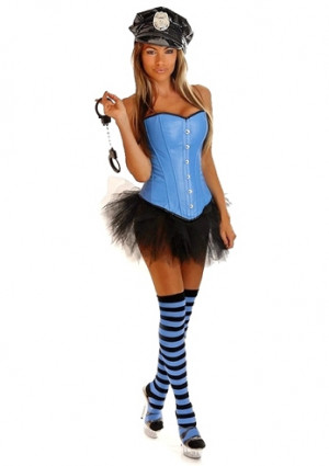 Girl Cop Halloween Costumes Pin-up cop womens costume