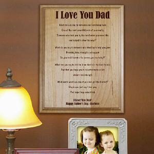 Love You. Dad Personalized Father's Day Wood Plaque