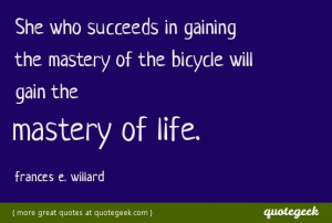Great quote from Frances E. Willard! Found at quotegeek.com.