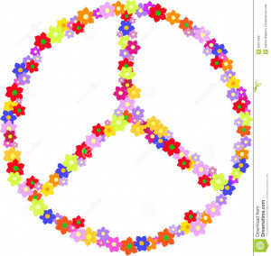 vector-peace-hippy-sign-made-flowers-hippie-isolated-white-background ...