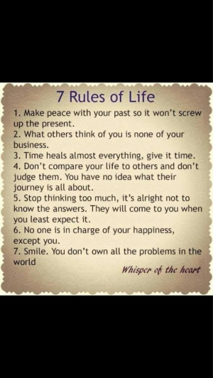 Twitter / TamraBarney: Great rules to live by. I'm ...