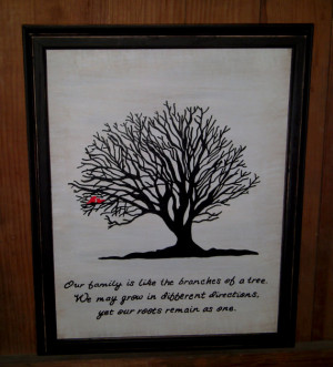 Family Tree Painting and Family Quote