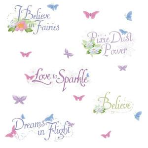 Disney Fairies Phrases Wall Stickers