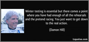 testing is essential but there comes a point where you have had enough ...