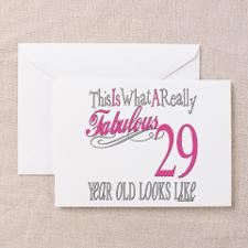 29th Birthday Gifts Greeting Card for