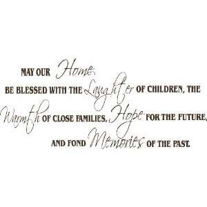 May Our Home Be Blessed Wall Quote, Wall Decor, Wall Art, Home, Family