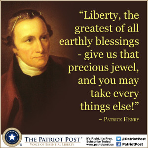 Quote: Patrick Henry on Liberty